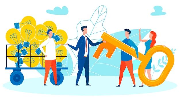 Businessmen negotiations cartoon illustration