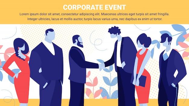 Businessmen team leaders meet successful deal