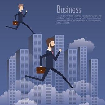 ビジネスマンチームグループのアバターキャラクター