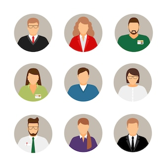 Businesspeople avatars