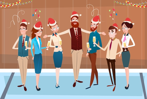 Businesspeople celebrate merry christmas