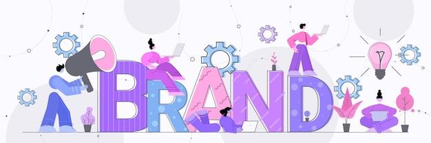 Businesspeople employers working on branding design brand