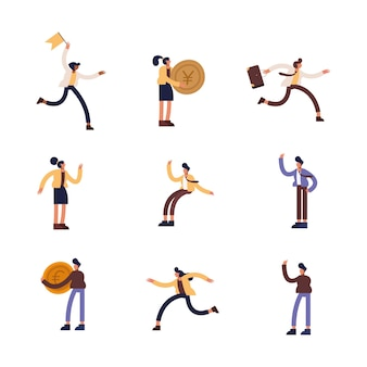 Businesspeople icon group design, business management and corporate theme  illustration