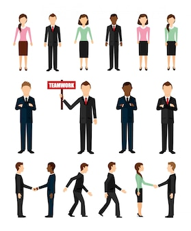 Businesspeople icon set