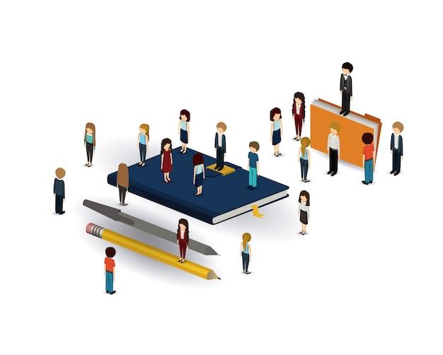 Businesspeople isometrics design