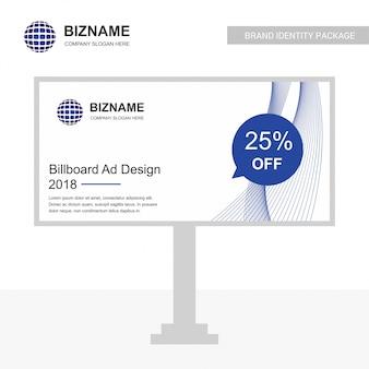 Businesss bill board design vector