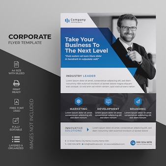 Businesss flyer template for corporate company