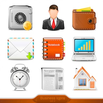 Businesss icons set   illustration