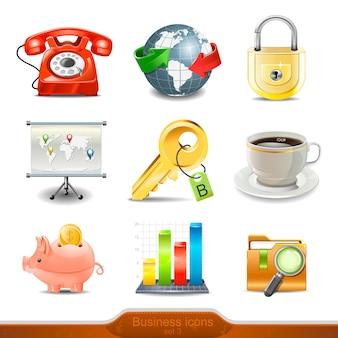 Businesss icons set   illustration