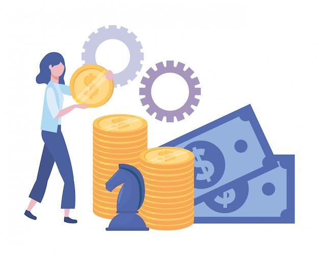 Businesswoman avatar cartoon illustration