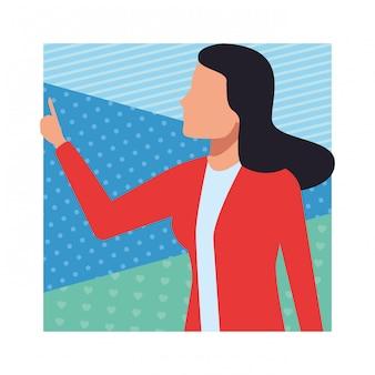 Businesswoman avatar isolated