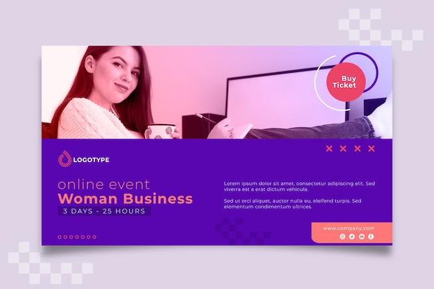 Modello web banner imprenditrice