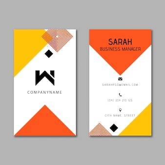 Businesswoman business card template