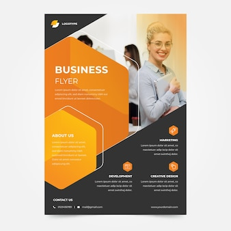 Businesswoman company business flyer template