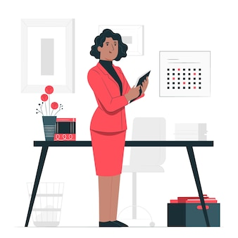 Businesswoman concept illustration