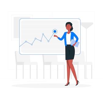 Businesswoman concept illustration