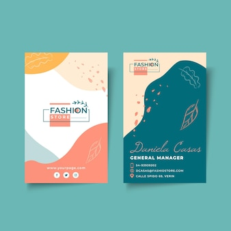 Businesswoman double-sided vertical business card