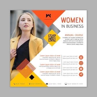 Businesswoman flyer template