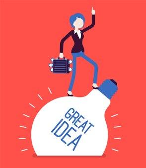 実業家の素晴らしいアイデア