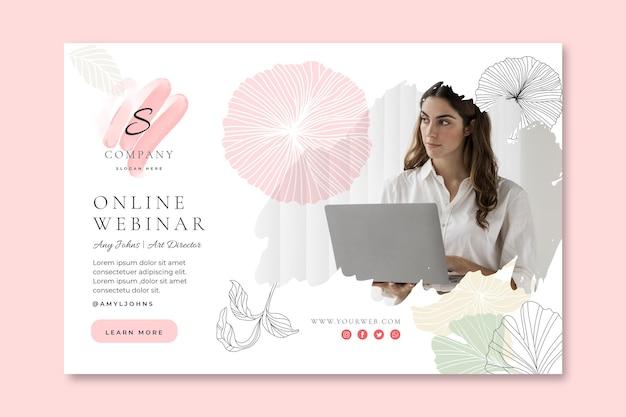 Modello di banner orizzontale della donna di affari