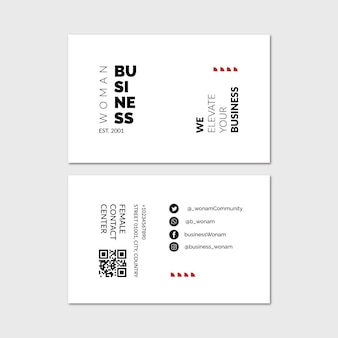 Businesswoman horizontal business card
