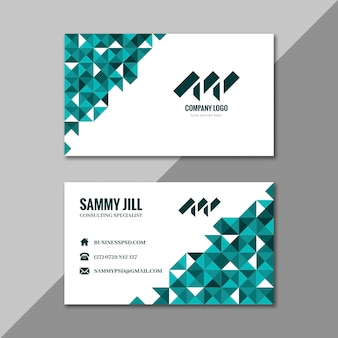 Businesswoman horizontal double-sided business card template