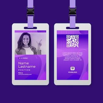 Шаблон удостоверения личности деловой женщины