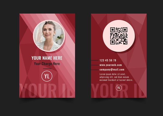 Businesswoman id card