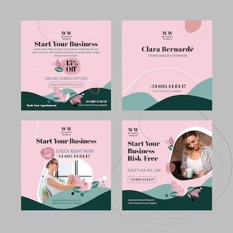 Businesswoman instagram post template