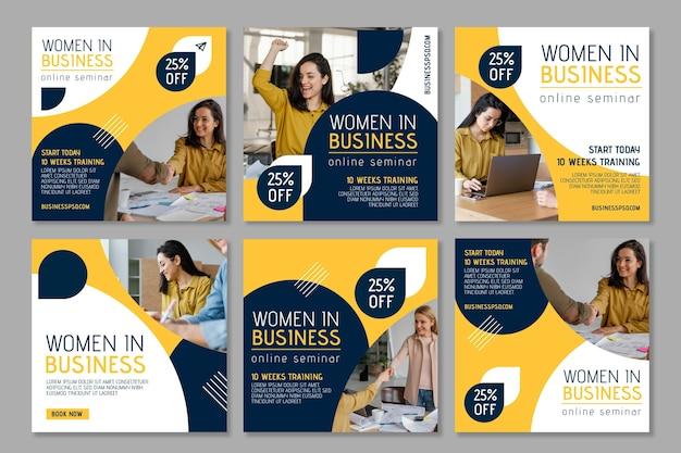 Businesswoman instagram posts collection