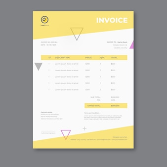 Businesswoman invoice template