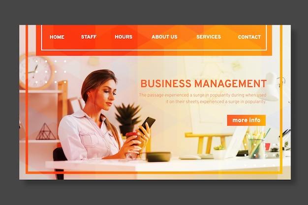 Шаблон целевой страницы бизнес-леди
