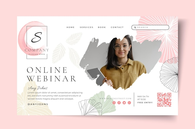 Businesswoman landing page template