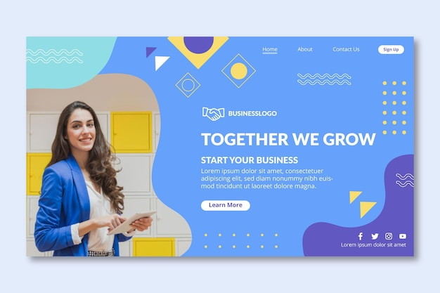 Businesswoman landing page