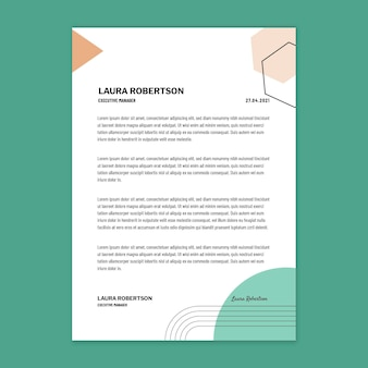 Businesswoman letterhead design template