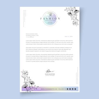 Businesswoman letterhead template with elegant elements