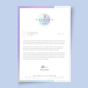 Businesswoman letterhead template with elegant elements