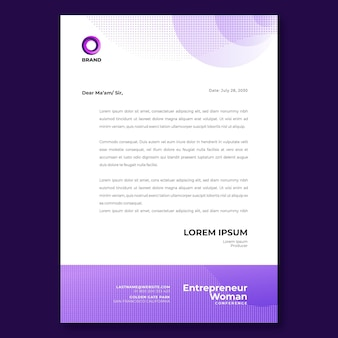 Businesswoman letterhead template