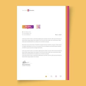 Businesswoman letterhead template