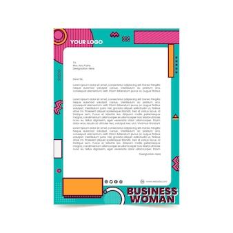Modello di carta intestata per donna d'affari
