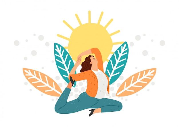 Businesswoman meditation concept
