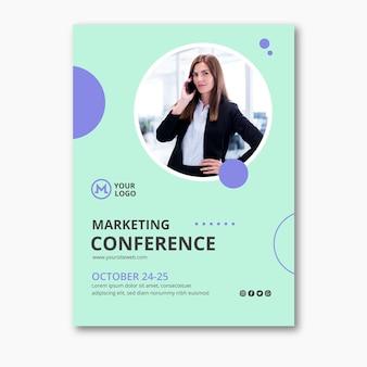 Шаблон плаката бизнес-леди