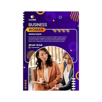 Шаблон плаката бизнес-леди Бесплатные векторы