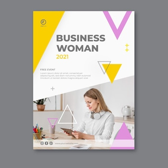 Modello del manifesto della donna di affari