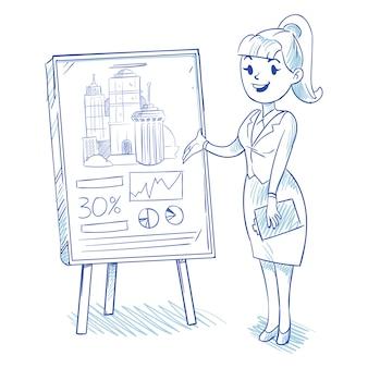 Businesswoman presenting business centre