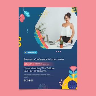 Modello di volantino stampa donna d'affari