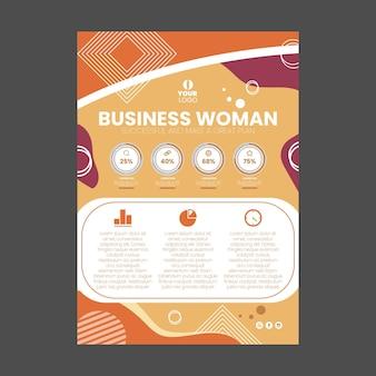 Businesswoman restaurant menu template