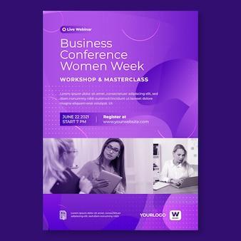 Businesswoman vertical flyer template