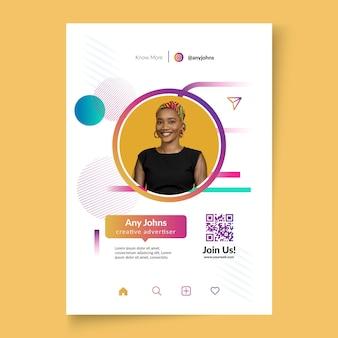 Businesswoman vertical poster template