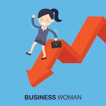 Businesswomanman on falling down